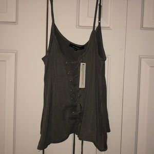 Lace Up Tank Top with adjustable straps NWT